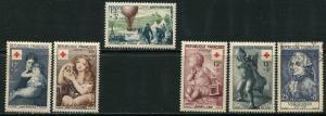 France Lot 6506 Republique Francaise 1954-5 YVERT 1006-7 MNH 1018 MNH 1030 1048-