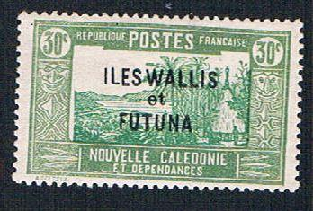 Wallis and Futuna 52 MLH New Caledonia overprint  (BP1044)
