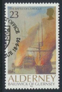 Alderney  SG A52  SC# 65  Ships Battle La Hogue Used First Day Cancel - as pe...