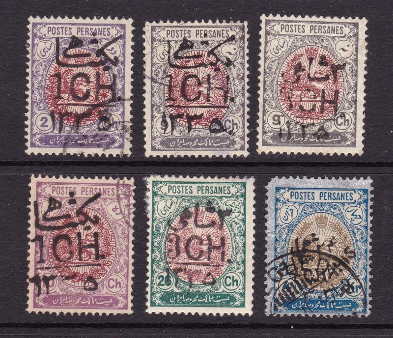 Iran small lot of overprints from 1927