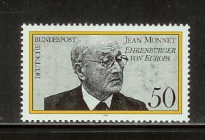 Germany 1244 Set MNH Jean Monnet (C)