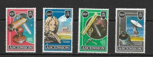 ASCENSION ISLAND - 1986 SPACE AND TELESCOPES - SCOTT 385 TO 388 - MNH