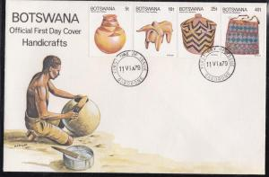 Botswana # 230-233, Handicrafts, First Day Cover