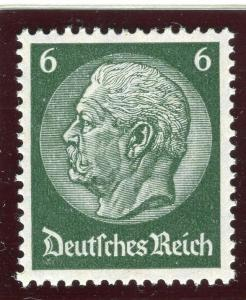 GERMANY;   1934 early Hindenburg issue fine Mint hinged 6pf. value