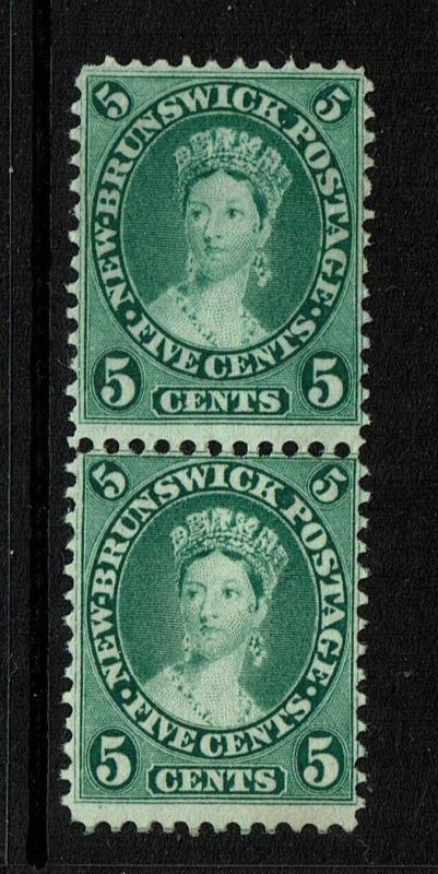 New Brunswick SG# 15 - Pair - Mint No Gum / Deep Green - 091017