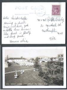 Canada - #9734 - 4c KGVI war on post card - Shawbridge , PQ roller #1-Jul 20