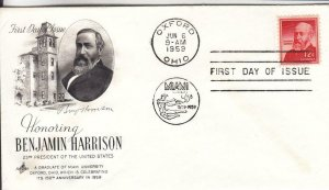1959, Honoring Benjamin Harrison, Artcraft, FDC (E7653)
