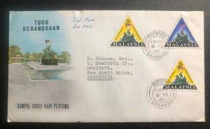 1966 Kuching Sarawak Malaysia First Day Cover To Australia Tugu Kebangsaan