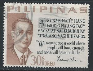 Philippines #879 30s Pres Manuel Roxas