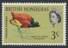 British Honduras SG 204 SC # 169 MLH  Birds Jacana  see scans