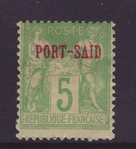 1899 Port Said Opt On 5c  France With Variety