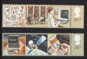 Great Britain 1982 MNH Information technology complete set