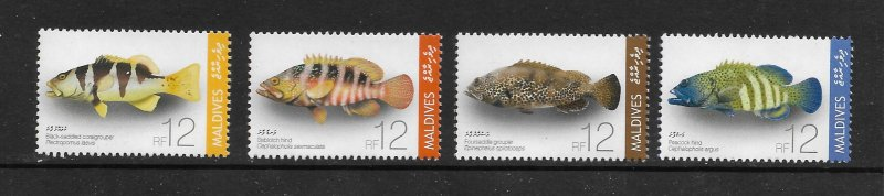 FISH - MALDIVES #2966-69   MNH