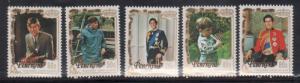 Penrhyn 176-80 Prince Charles Mint NH