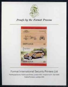 St Lucia 1984 Cars #2 (Leaders of the World) $3 Chrysler ...