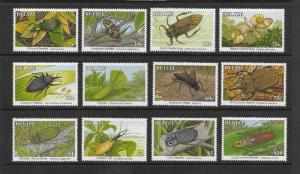 INSECTS - BELIZE #1035-46  MNH