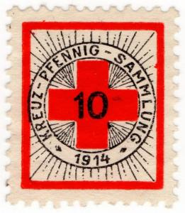 (I.B-CK) Germany (Great War) Cinderella : Red Cross Charity Stamp 10pf
