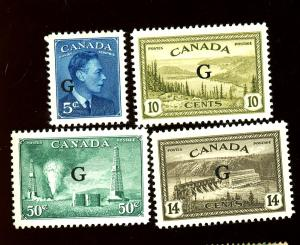 Canada #O20-22 24 MINT VF OG LH Cat $21