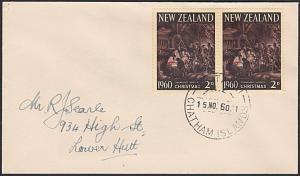 NEW ZEALAND 1960 cover WAITANGI / CHATHAM ISLANDS cds......................87739