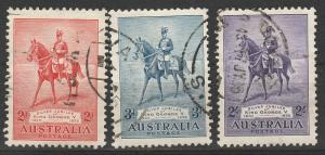 AUSTRALIA 1935 KGV SILVER JUBILEE SET USED