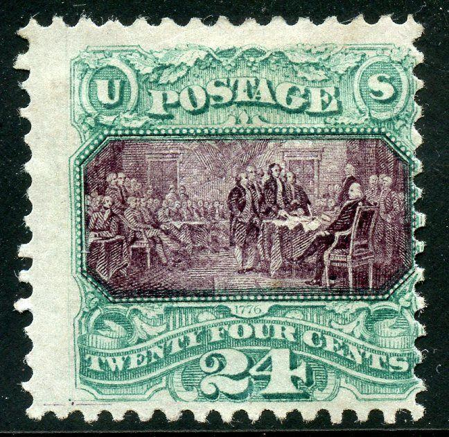 UNITED STATES #120  24c PICTORIAL  MINT HINGED ORIGINAL GUM WEISS  CERTIFICATE