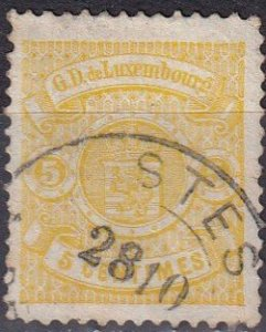 Luxembourg #42  F-VF  Used  CV $95.00  Z1138