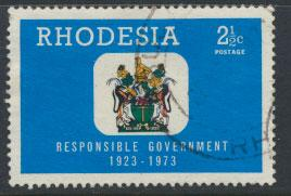 Rhodesia   SG 484  SC# 324  Used  Responsible Government 1973 see details