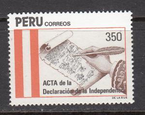 Peru SC# 823  1984 Independence Act MNH