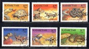 KAZAKHSTAN 83-88 USED SCV $1.75 BIN $.70 REPTILES