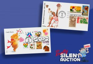 SC 2560, 3833 • Love & Basketball FDCs • Two Edken covers with combos