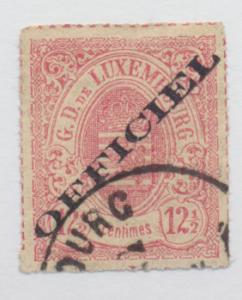 Luxembourg Stamp Scott #O4, Used - Free U.S. Shipping, Free Worldwide Shippin...
