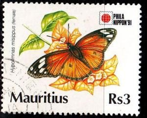 MAURITIUS [1991] MiNr 0730 ( O/used ) Schmetterlinge