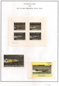 SCOTLAND - EYNHALLOW - 1982 - Speed Boats - Perf 4v, Souv, D/L Sheets - MLH