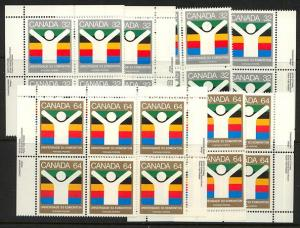 Canada USC #981-982 Mint MS Imprint Blocks VF-NH 1983 World University Games