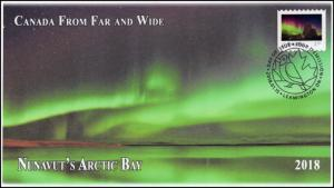 CA18-016, 2018, From Far and  Wide, Nunavuts Bay, Day of Issue, FDC, $2.50 Stamp