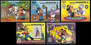 Dominica 919-923, MNH, Disney Tom Sawyer Christmas