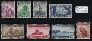 Poland - 1941 - Sc 3K1 - 3K8 - Exile Government in Great Britan - MNH