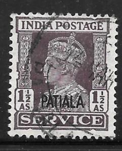 India Patiala O69: 1.5a George VI, used, F-VF