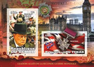 TCHAD CHAD SHEET IMPERF LEADERS WORLD WAR