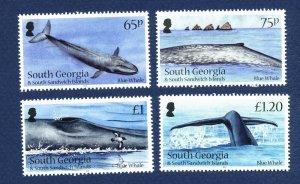 SOUTH GEORGIA - # 455-458 - MNH - Blue Whale  - 2012