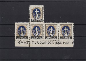 DENMARK CINDERELLA STAMPS BLOCK UNMOUNTED MINT