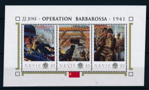 [81044] Nevis 2011 Second World war Operation Barbarossa Sheet MNH