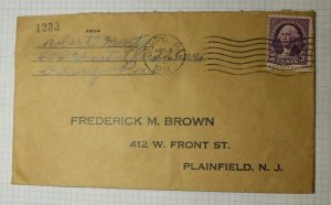 US Cover Derry PA 1937 Business Reply Envelope Westmoor City