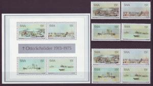 Z402 Jlstamps 1975 south west africa set + ss + blk,s 4 mnh #380-3 and 383a&b