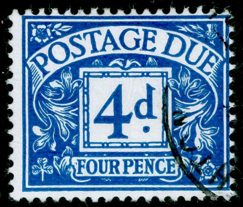 SGD71, 4d blue, FINE USED, CDS. NO WMK