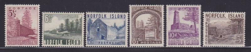 Norfolk Is 13-18 VF lightly hinged set with nice colors scv $ 48 ! see pic !