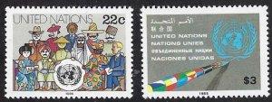 UN NY 445-46 MNH cv $4.05 BIN $2.00