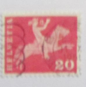 Switzerland - 385, Used. Postilion on Horseback. SCV - $0.25