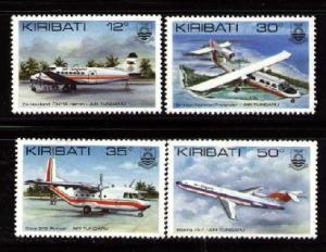 4 Diff. Airplanes, Air Tungaru, Kiribati SC#400-403 MNH set