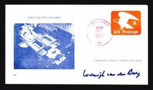 Lodewijk Van Den Berg 1978 Space Shuttle Signed Space Cover - Z19050